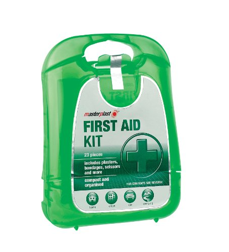 Travel first aid kit with plasters, bandages and more