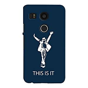 ColourCrust LG Google Nexus 5X New (2016 Edition) Mobile Phone Back Cover With This is it Michael Jackson - Durable Matte Finish Hard Plastic Slim Case
