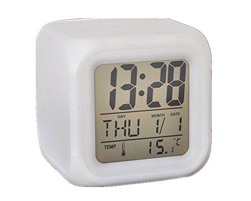 Dulcis Bunte Uhr Kubik Temperatur Datum sich färben color change Uhr Wecker