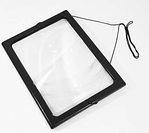 soled A4 Full Page Large Hands-Free Page Magnifier for Reading with LED 4 Lights for gift (Full Page Reading Magnifier compare prices)