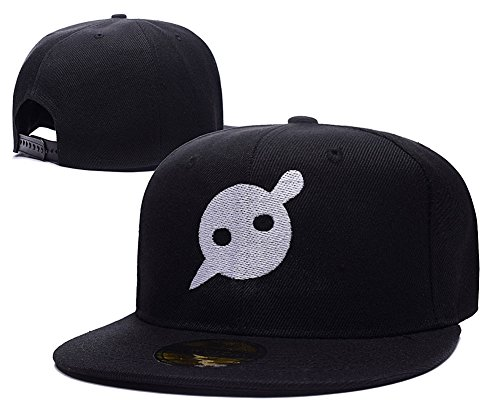 HAIHONG Knife Party Logo Adjustable Snapback Embroidery Hats Caps - Black