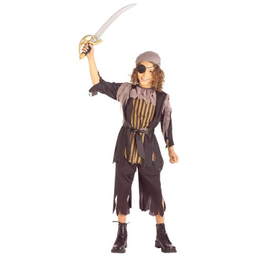 Rubie's Kids 'Pirate Captain' Halloween Costume, Black/Green/Grey, M