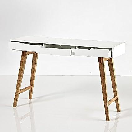 Mesa de escritorio de diseño SCANIO, colour mate lacado en colour blanco, 120 x 75 x 40 cm