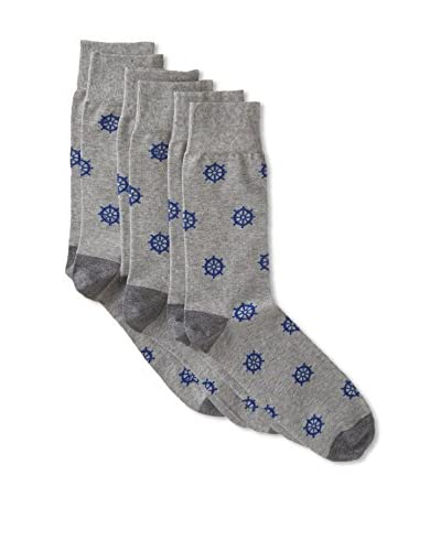 Corgi Men's Combed Socks 3-Pack, Multi, One Size