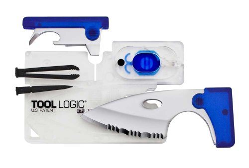 Sog Specialty Knives & Tools Icc2B Ice Lite I With Led Light, Clear And Blue front-981312