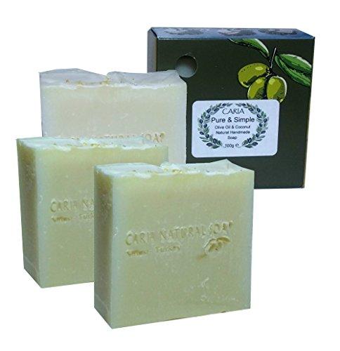 3-x-caria-burbujeante-pure-and-simple-barra-de-jabon-piel-sensible-sin-perfume-hecho-a-mano-natural-
