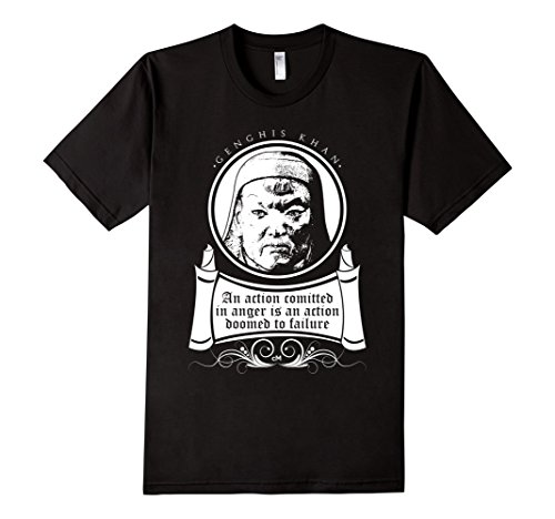 Men's Calvin Mira T shirt  Genghis Khan shirt An action committed  Medium Black (Genghis Khan Costume)
