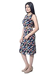 iamme Bright multi colored bodycon knee length dress