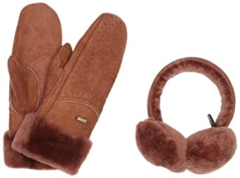 Emu Australia Mallacoota Gift Set Women's Earmuff and Glove Set Red Earth X-Small/Small