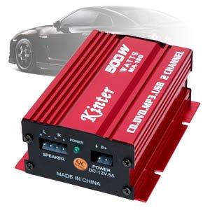 HiFi Stereo Mini Auto Verstärker Amplifier 2 Kanäle 500W 2 x 75W RMS