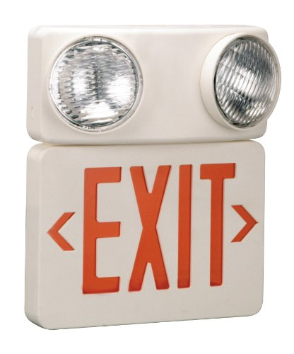 Preferred Industries 673086 LED Red Exit/Emergency Combo with Battery Back-Up