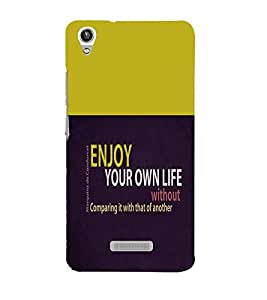 printtech Cool Quotes Back Case Cover for Lava Pixel V1