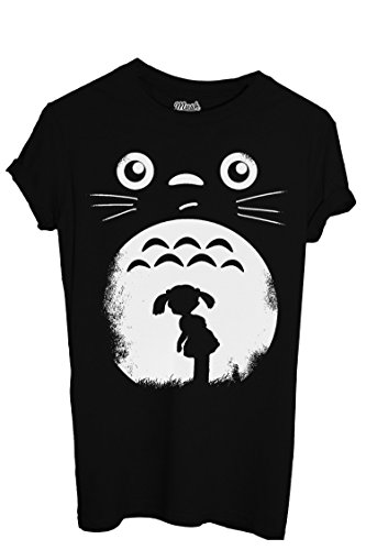 T-Shirt TOTORO FACE & BABY - CARTOON by iMage Dress Your Style - Donna-XL-NERA