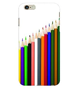 Fuson 3D Printed Coloured Pencils Designer Back Case Cover for Apple iPhone 6S Plus - D646