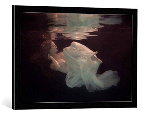 """Quadro con cornice: Gabriela Slegrova """"Sleeping beauty"""" - stampa artistica decorativa, cornice di alta qualità, 75x50 cm, nero / angolo grigio"""