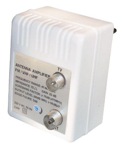 FP4iRL Stecker Antennenverstärker (47-862MHz, Verstärkung 20dB, regelbar 0-10dB)