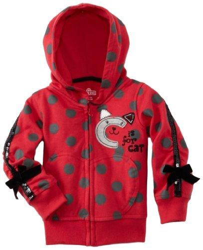 Watch Me! by Grow-Sesame Street-girls Infant C per Cat-Felpa con cappuccio con stampa a pois, colore: rosso, 24 mesi, colore: rosso, taglia: 24 mesi Infant Baby, bambino