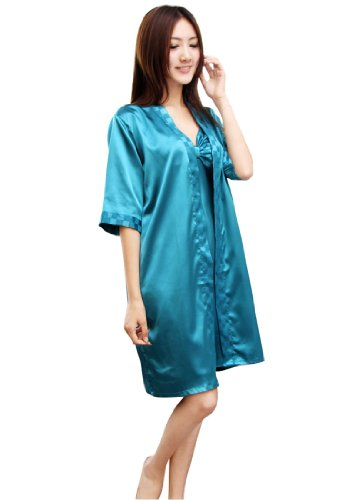 Beautiful Soft Satin Slip Robe Set and Chemise