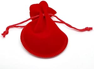 Housweety 20PCs Red Velvet Drawstring Pouches Jewelry Gift Bag 9x75cm3-12quotx3quot
