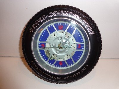 "Tire Clock Desk Top ""5"