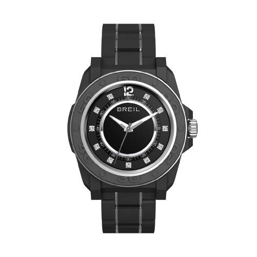 Breil Women's Quartz Watch with Black Dial Analogue Display and Black PU Bracelet TW0837