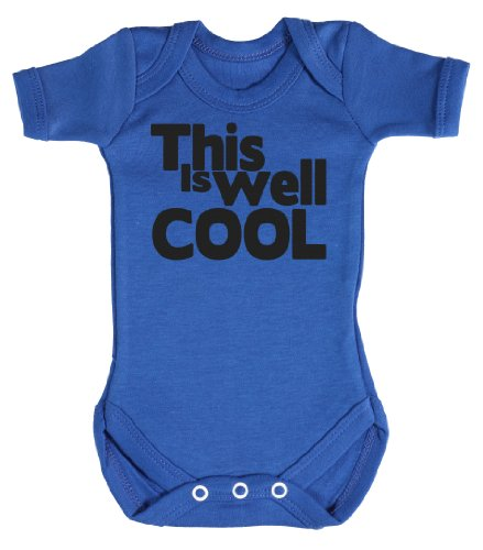 Baby Buddha - This Is Well Cool Babygrow Baby Clothes Newborn Blue front-965914