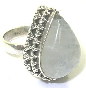 Size 6.5 Moonstone & Sterling Silver Ring