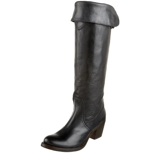 Frye Jane Tall Cuff Womens Knee High Boots Jane Tall Cuff Black 4 UK, 37 EU, 6 US