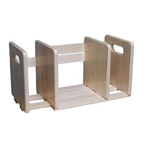 木製スライド本立て
