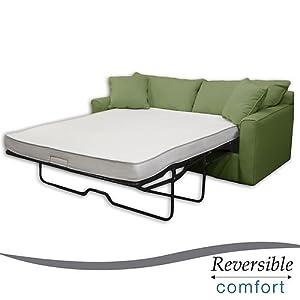 Amazon Select Luxury Reversible 4 inch Twin size Foam Sofa Bed Sleeper Mattress Kitchen