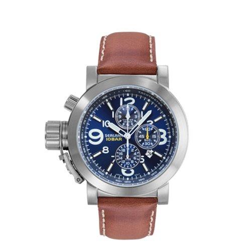 [シーレーン]SEALANE 腕時計 10BAR N夜光 クロノグラフ SE44-LBL メンズ