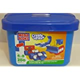 Mega Bloks Create 'N Play Junior 200 Piece Blue Tub Primary Colours