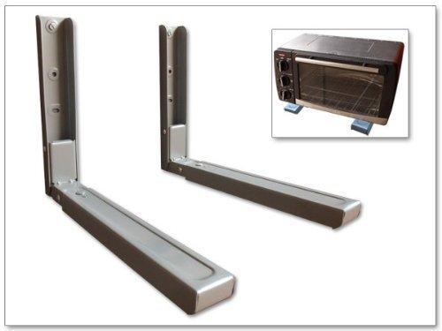 Supporto per Montaggio a parete Mensola Ripiano STAFFA per LETTORE BLU-RAY-DVD Ricevitore SATELLITARE Microonde IMPIANTO HIFI (Per SAMSUNG PHILIPS SONY LG PANASONIC GRUNDIG ACER THOMSON TELEFUNKEN BLAUPUNKT TOSHIBA - LED LCD TFT Plasma Full HD 3D Tv) - ARGENTO - Modello: H73S