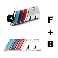 2pcs Set Am17 Car Styling Accessories Chromed Emblem Badge Decal Sticker M Front Grille Blue Back For Bmw X1 X3 X5 X6 M3 M5 E46 E39 E36 E60 E34 E90 E65 E70 E53 E87 from Benzy
