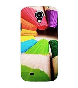 PrintVisa Colorful Pencil Design 3D Hard Polycarbonate Designer Back Case Cover for Samsung Galaxy S4 Mini
