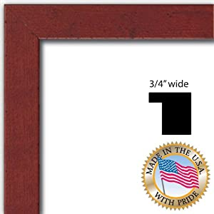 12x18 / 12 x 18 Red Rustic Pine Picture Frame - NEW .. .75'' wide