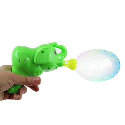Dazzling Toys Elephant Bubble Blower Pack of 2, with 2 Bubble Solutions