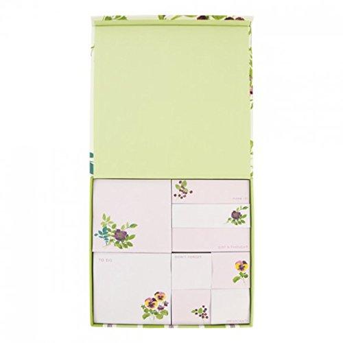 laura-ashley-foglietti-per-appunti-motivo-viole-colore-malva