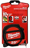 Milwaukee Electric Tool 48-22-5125 Magnet Tape Measure, 25'