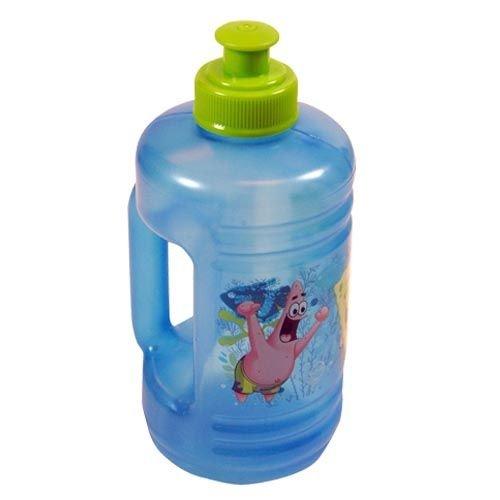 Spongebob 16oz Blue Water Jub Pull Top Water Bottle