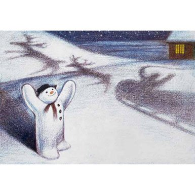 Snowman Pack of 10 Christmas Cards (Rectangle)||RF10F