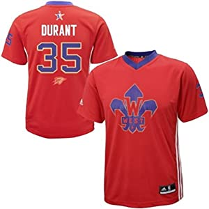 Buy Kevin Durant #35 Oklahoma City Thunder Youth All-Star Western Conference Short Sleeve Jersey by adidas