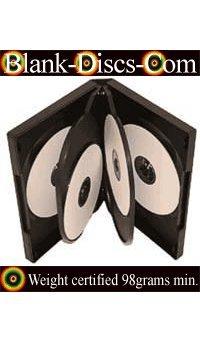 DVD-CASES Lot de 5 boîtiers de DVD en polypropylène 6 emplacements Noir 14 mm 98 g
