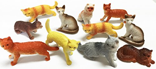 GiftExpress Mini Cat Figures for Party Accessories or Vending Machines (Vending Machine Animals compare prices)
