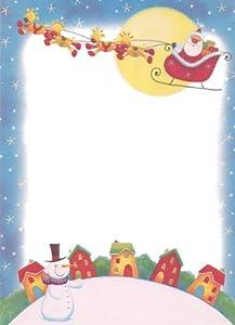 Santa writing paper