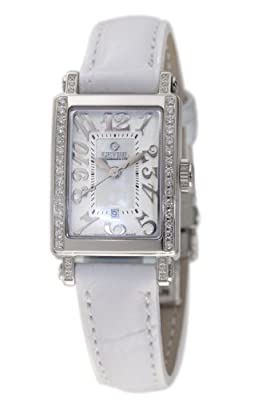 Gevril Women's 8249NE Super Mini Quartz White Mother of Pearl Diamond Watch