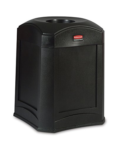 Rubbermaid Commercial Products Fg9W0000Bla Waste Receptacle, Standard Funnel Top front-516495