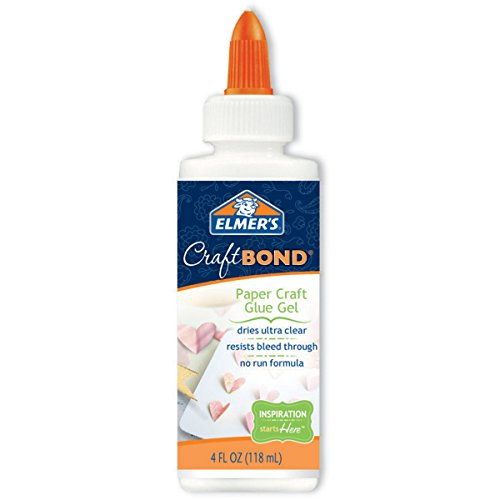 Elmer's Craft Bond Paper Craft Glue Gel, 4-Ounce, Clear