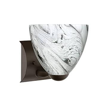 Besa Lighting 1WZ-7572MG-BR Sasha-II - One Light Wall Sconce, Choose Finish: BR: Bronze, Choose Lamping Option: 75W Incandescent-A19 Medium-120v