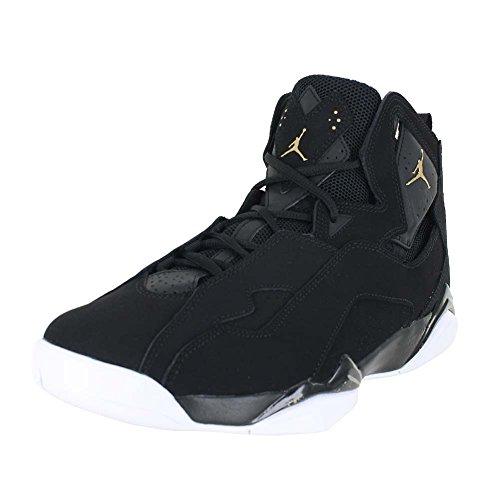 jordan-mens-jordan-true-flight-black-black-white-gold-size-10